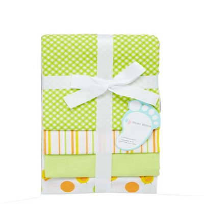 Baby Mode 3409 Receiving Blankets Neutral - Pack of 4