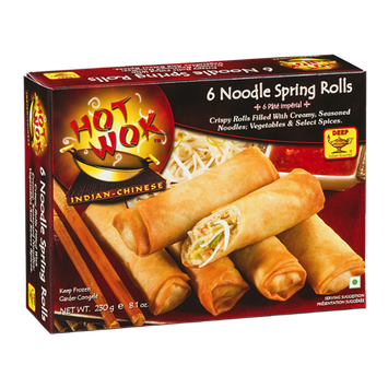 Hot Wok Indian - Chinese Noodle Spring Rolls - 6 CT