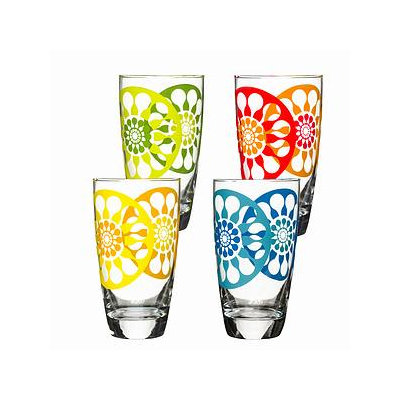 Sagaform Set of Four Juicy Ice Tea Glasses