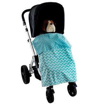 Blue Baby Bum Zig Zag Stroller Blankie Aqua