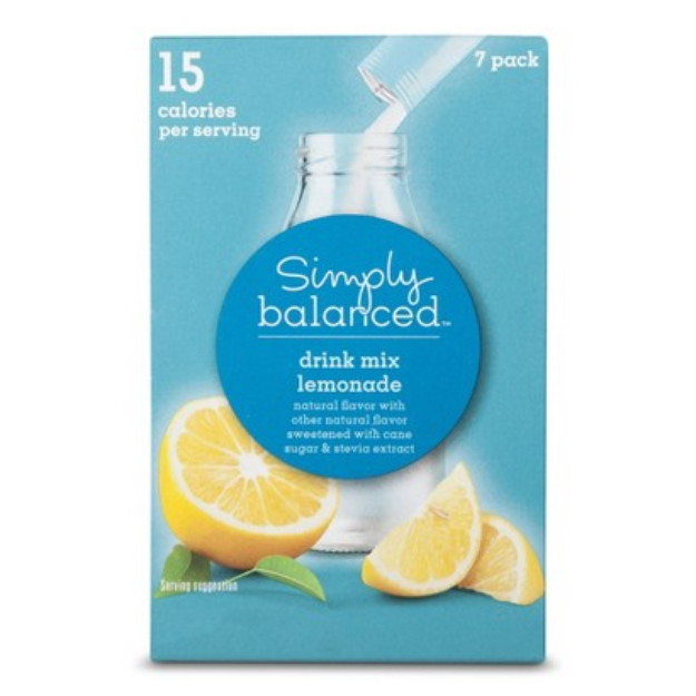 Simply Balanced Lemonade Drink Mix Packets 7 ct