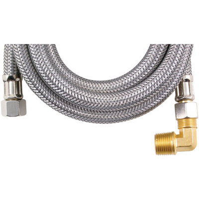 Loyal LOYAL MK460B C000296 Braided Stainless Steel Dishwasher Connectors with Elbow 60in