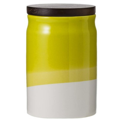 Threshold Ceramic Dipped Paint Small Food Canister with Wood Lid -