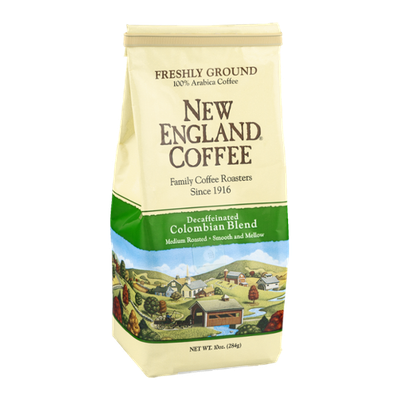 New England Coffee Decaffeinated Colombian Blend Medium Roasted Freshly Ground