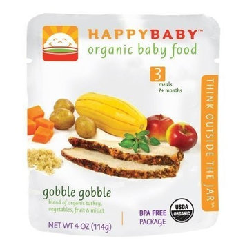Happy Baby HAPPYBABY Organic Baby Food, Stage 3, Gobble Gobble, 4 Ounce Pouch
