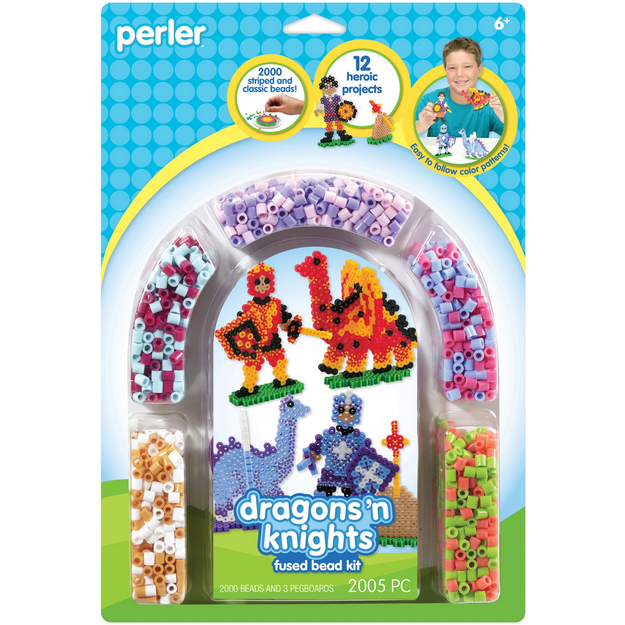 Wilton Perler Dragons & Knights Fused Bead Kit