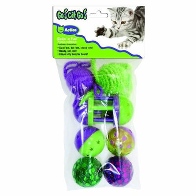 Go! Cat Go OurPets Go Cat Go 7-Piece Rolling in the Fun, Multi-Pack Cat Toys
