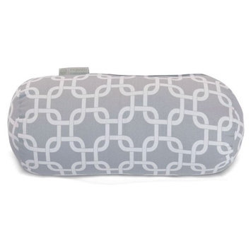 Majestic Home Goods 1 Gray Links Uv Protected Outdoor Accent Pillow