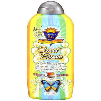 European Gold Sweet Brown Dark Tanning Lotion, 13.5 fl oz