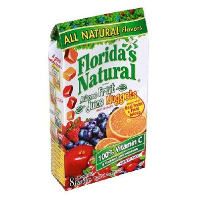 Florida's Natural Fruit Juice Nuggets, Assorted, 4.8-Ounce Cartons (Pack of 12)