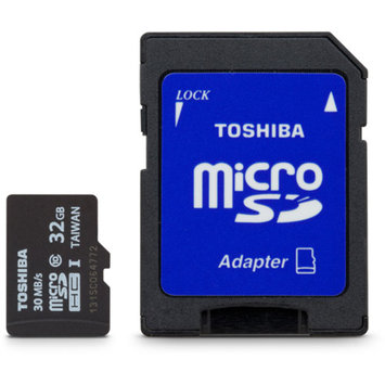 Toshiba - Flash memory card ( microSDHC to SD adapter included ) - 32 GB - UHS Class 1 / Class10 - microSDHC UHS-I