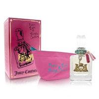 Peace Love & Juicy Couture by Juicy Couture for Women 2 Piece Set Includes: 3.4 oz Eau de Parfum Spray + Cosmetic Pouch
