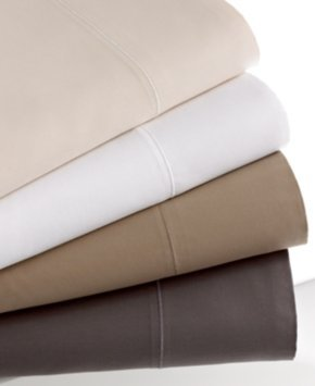 Hotel Collection 700 Thread Count Solid MicroCotton Queen Flat Sheet Bedding