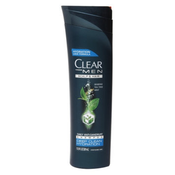 Clear Men Deep Clean Hydration Daily Anti-Dandruff Shampoo, Ginseng Tea Tree Mint, 12.9 fl oz