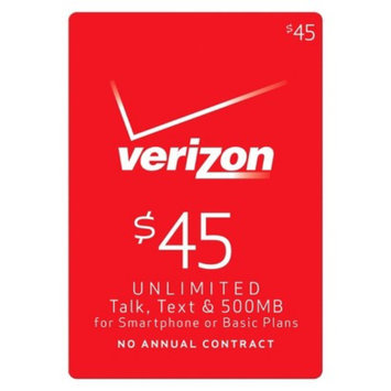 Interactive Communication Verizon $45 Unlimited Talk, Text and 500MB for Smartphone and Basic