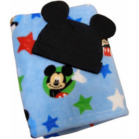 Disney Baby Bedding Mickey Mouse Blanket with Beanie