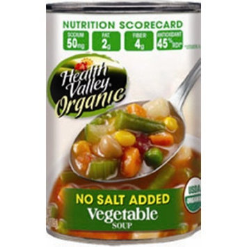 Health Valley Vegetable Soup No Salt Added, 15 Ounce Cans (Pack of 12)