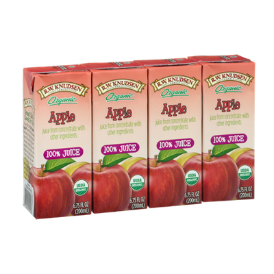 R.W. Knudsen Family Organic Apple Juice Boxes - 4 CT