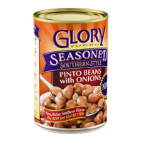 Glory Foods Seasoned Southern Style Pinto Beans with Onions