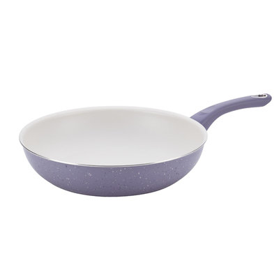 Farberware New Traditions Speckled Aluminum Nonstick 12-1/2-Inch Deep Skillet, Lavender