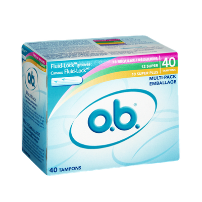 O.B. Multi-Pack Regular/Super/Super Plus Tampons - 40 CT