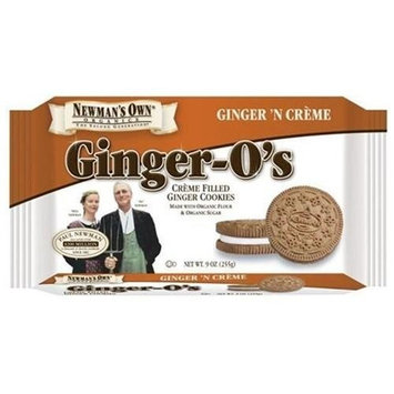 Newman's Own man's Own Organics Newman O's, (Ginger-O's) Creme Filled Ginger Cookies, 9-Ounce Packages (Pack of 6)