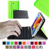 Fintie Magnetically Detachable Wireless Bluetooth Keyboard Case Cover for Samsung Galaxy Tab 4 8.0 Tablet, Green