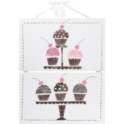 Cotton Tale 2 Piece Cupcake Hanging Art Set
