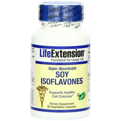 Life Extension Super Absorbable Soy Isoflavone Capsule, 60-Count