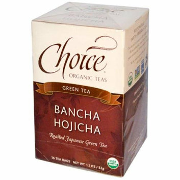 Choice Organic Teas Ban-Cha Toasted Green Tea 16 Tea Bags Case of 6