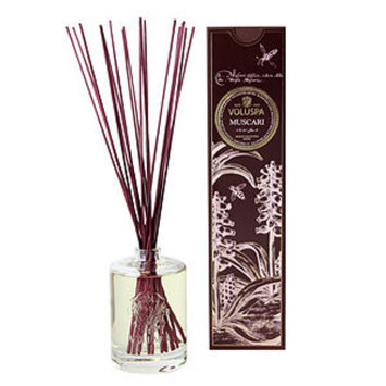 Voluspa Fragrant Oil Embossed Diffuser, Muscari, 6 oz