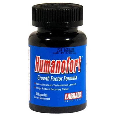Labrada Nutrition Humanofort Growth Factor Capsules, 60-Count Bottle