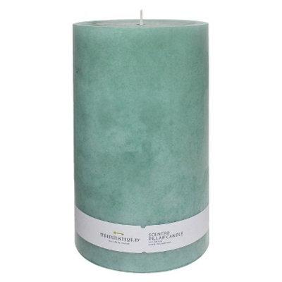 Pacific Trade Threshold Bright Blue Pillar Candle 4