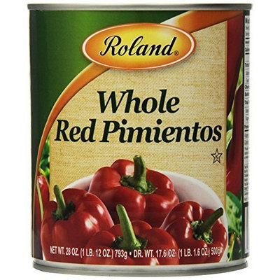 Roland Whole Red Pimientos, 28 oz (Pack of 4)