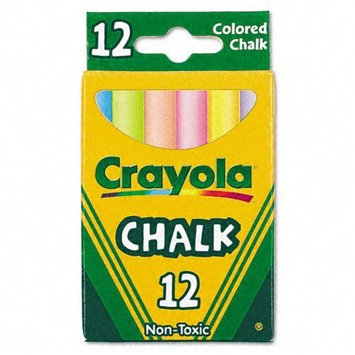 Kmart.com Crayola Nontoxic Chalk, Assorted Colors, 12 Sticks per Box
