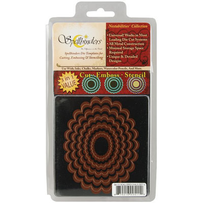 Spellbinders Wizard Nestabilities Die Set - Oval Scallop Large