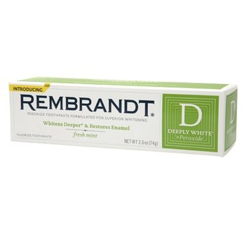 Rembrandt Deeply White + Peroxide Whitening Toothpaste with Fluoride