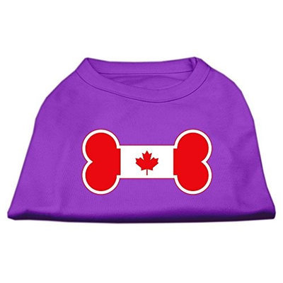Mirage Pet Products 5110 MDPR Bone Shaped Canadian Flag Screen Print Shirts Purple M 12