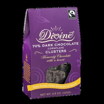 Divine 70% Dark Chocolate Cornflake Clusters