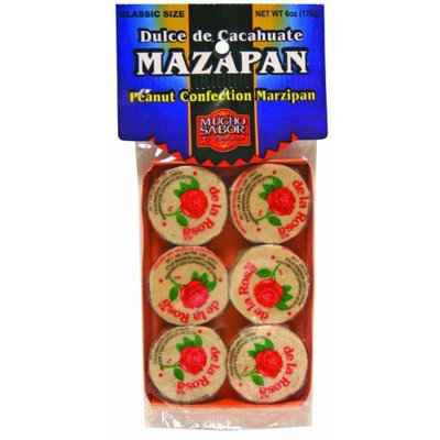 Mucho Sabor Mazapan, Dulce de Cacahuate, 6.0-Ounce Bags (Pack of 6)