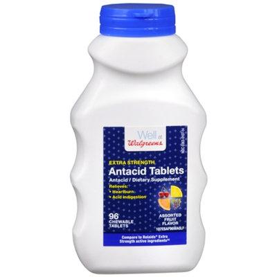 Walgreens Extra Strength Antacid Tablets, Fruit, 96 ea