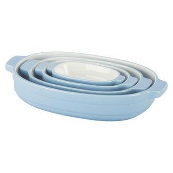 KitchenAid 4 Piece Nesting Ceramic Bakeware Set - Blue