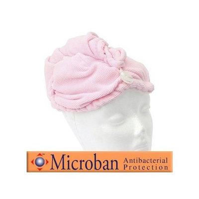 Appearus Microfiber Hair Turban with Antibacterial Protection (Pink-AH6022)