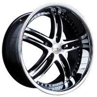 XIX X15 Weels 20X8.5 20X10 BMW 5 7 Series Black Chrome Lip 4pc-1Set