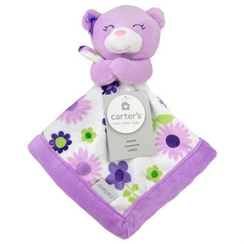 Triboro Quilt Co. Carter's Purple Bear Security Blanket with Plush