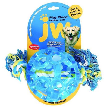 Doskocil Manfuacturing Company JW Play Place Lattice Ball Dog Toy Large