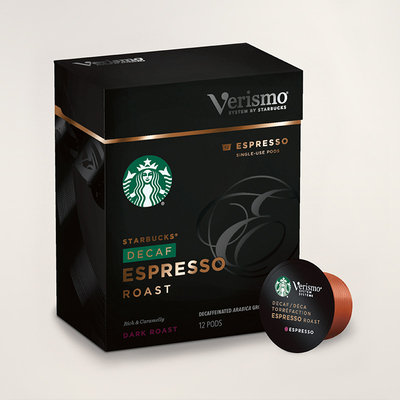 STARBUCKS® Decaf Espresso Roast Rich & Caramelly Verismo® Pods
