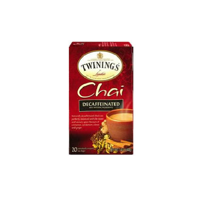 TWININGS® OF London Decaffeinated Chai Tea Bags