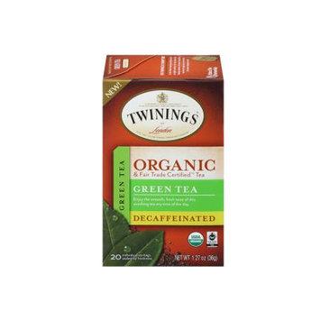 TWININGS® OF London Decaffeinated Green Tea Organic Tea Bags