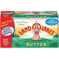 Land O' Lakes Salted Butter Quarters 1 lbs